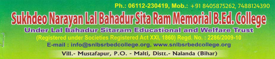 Sukhdeo Narayan lal Bahadur Sita Ram memorial Bed College